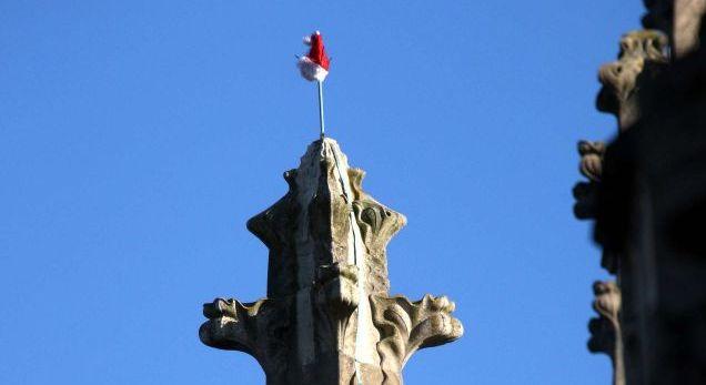 Santa Hat on King's Chapel Spire