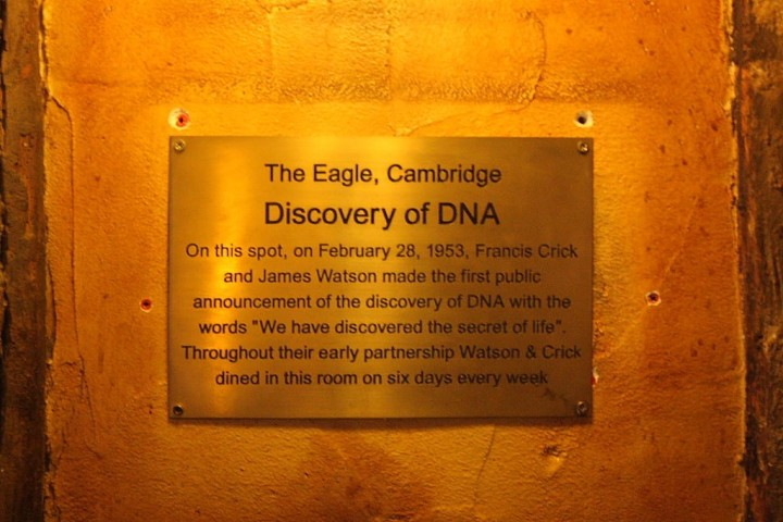 Crick and Watson Plaque Eagle Pub