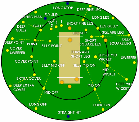 Cricket field positions II