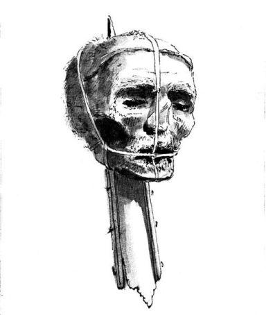 Cromwell's head on a pike